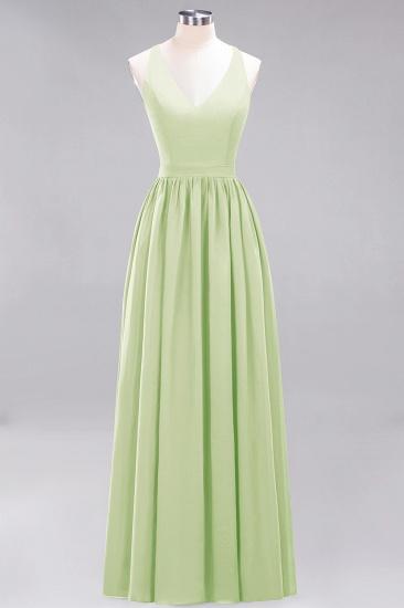 Affordable Chiffon V-Neck Sleeveless Lace Bridesmaid Dress Online_35