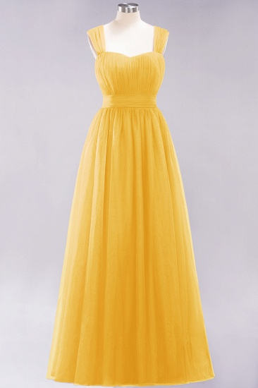 BMbridal Gorgeous Sweetheart Straps Ruffle Burgundy Bridesmaid Dresses Online_16