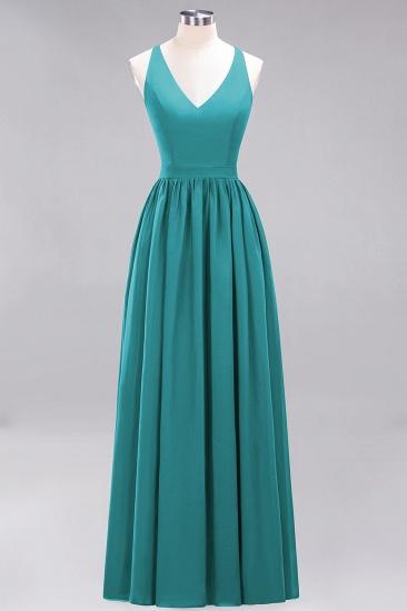 Affordable Chiffon V-Neck Sleeveless Lace Bridesmaid Dress Online_32