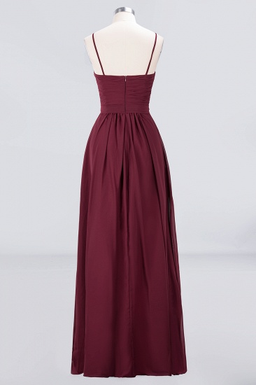 Chic Burgundy Sweetheart Long Bridesmaid Dress With Spaghetti-Straps_5