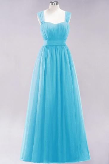 BMbridal Gorgeous Sweetheart Straps Ruffle Burgundy Bridesmaid Dresses Online_23