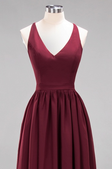 Affordable Chiffon V-Neck Sleeveless Lace Bridesmaid Dress Online_63