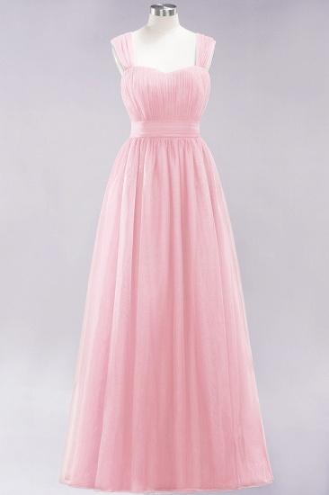 BMbridal Gorgeous Sweetheart Straps Ruffle Burgundy Bridesmaid Dresses Online_3