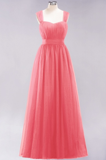 BMbridal Gorgeous Sweetheart Straps Ruffle Burgundy Bridesmaid Dresses Online_7