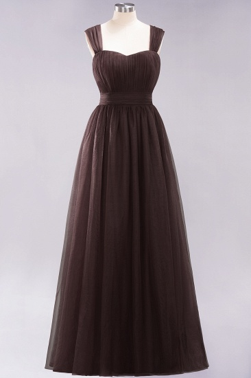 Gorgeous Sweetheart Straps Ruffle Burgundy Bridesmaid Dresses Online_11