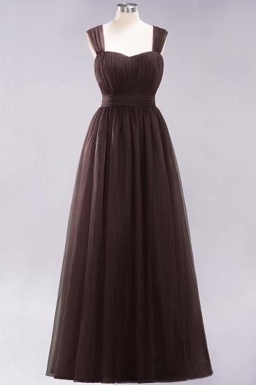 BMbridal Gorgeous Sweetheart Straps Ruffle Burgundy Bridesmaid Dresses Online_11