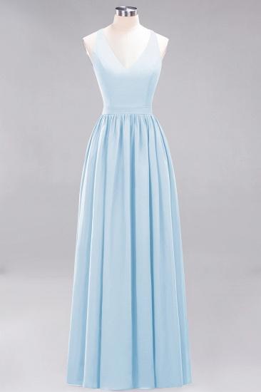 Affordable Chiffon V-Neck Sleeveless Lace Bridesmaid Dress Online_23