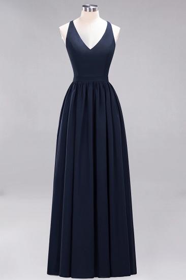 Affordable Chiffon V-Neck Sleeveless Lace Bridesmaid Dress Online_28
