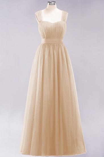 BMbridal Gorgeous Sweetheart Straps Ruffle Burgundy Bridesmaid Dresses Online_14