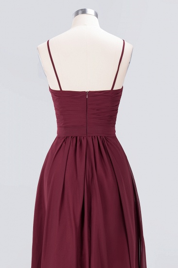 Chic Burgundy Sweetheart Long Bridesmaid Dress With Spaghetti-Straps_9