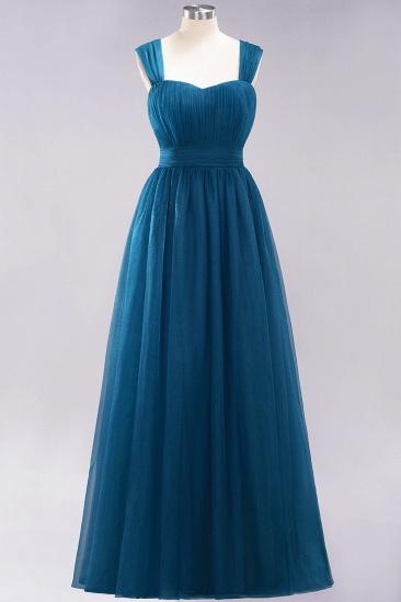 BMbridal Gorgeous Sweetheart Straps Ruffle Burgundy Bridesmaid Dresses Online_26