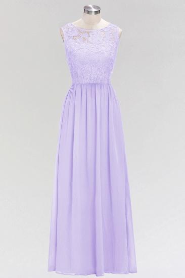 BMbridal Elegant Lace Sleeveless Pleated Lavender Bridesmaid Dresses Online_1