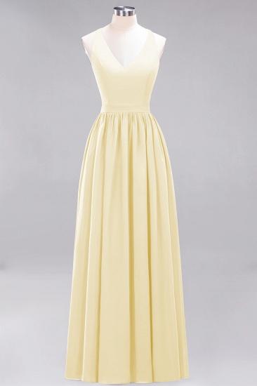 Affordable Chiffon V-Neck Sleeveless Lace Bridesmaid Dress Online_18