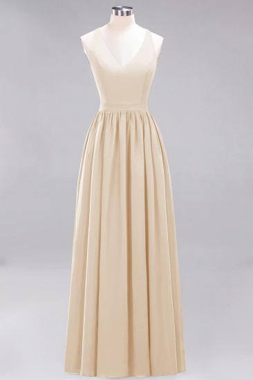 Affordable Chiffon V-Neck Sleeveless Lace Bridesmaid Dress Online_14