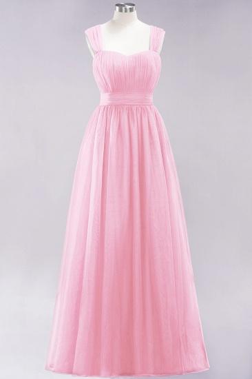 BMbridal Gorgeous Sweetheart Straps Ruffle Burgundy Bridesmaid Dresses Online_4