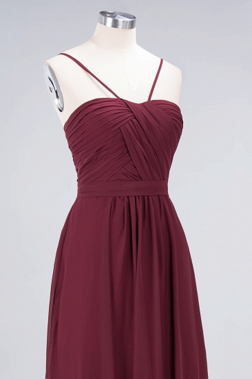Chic Burgundy Sweetheart Long Bridesmaid Dress With Spaghetti-Straps_8