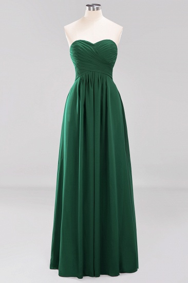 Vintage Sweetheart Long Grape Affordable Bridesmaid Dresses Online_30