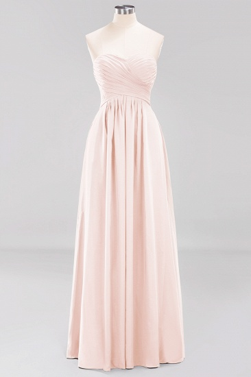Vintage Sweetheart Long Grape Affordable Bridesmaid Dresses Online_5