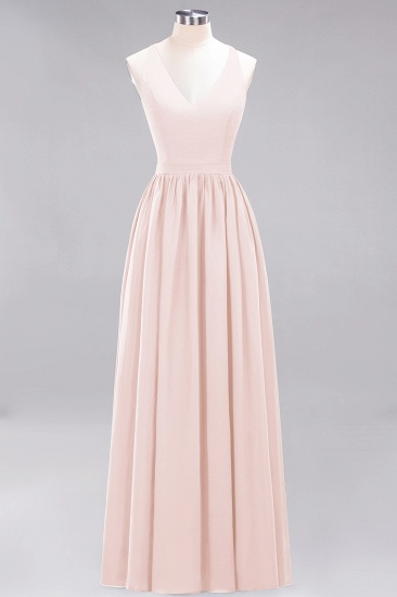 Affordable Chiffon V-Neck Sleeveless Lace Bridesmaid Dress Online_5