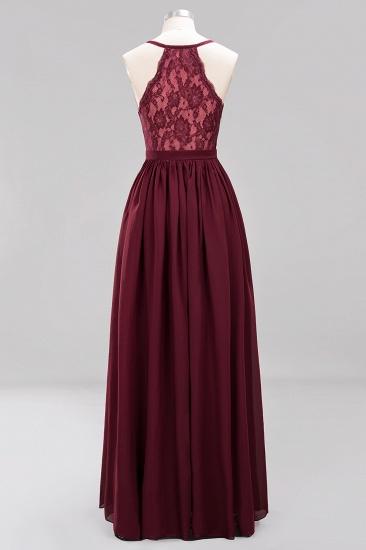 Affordable Chiffon V-Neck Sleeveless Lace Bridesmaid Dress Online_56