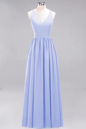 Affordable Chiffon V-Neck Sleeveless Lace Bridesmaid Dress Online_22