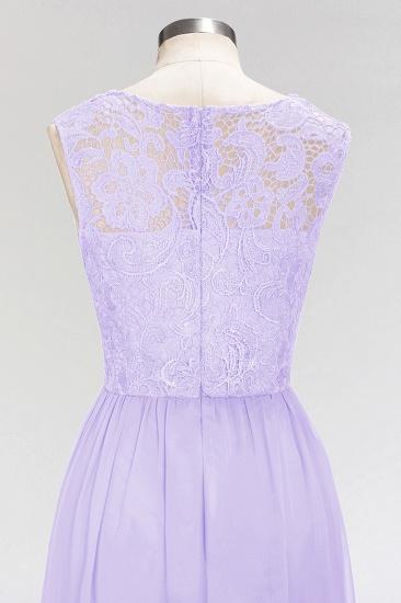 BMbridal Elegant Lace Sleeveless Pleated Lavender Bridesmaid Dresses Online_5