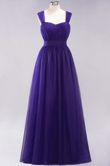 BMbridal Gorgeous Sweetheart Straps Ruffle Burgundy Bridesmaid Dresses Online_18