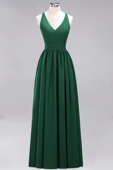 Affordable Chiffon V-Neck Sleeveless Lace Bridesmaid Dress Online_31