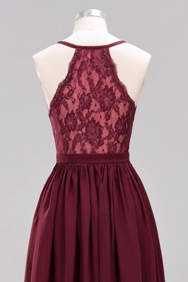 Affordable Chiffon V-Neck Sleeveless Lace Bridesmaid Dress Online_65