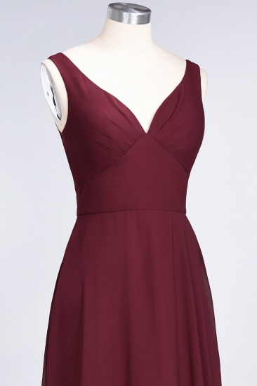 BMbridal Chic Chiffon V-Neck Straps Ruffle Affordable Bridesmaid Dresses with Open Back_59