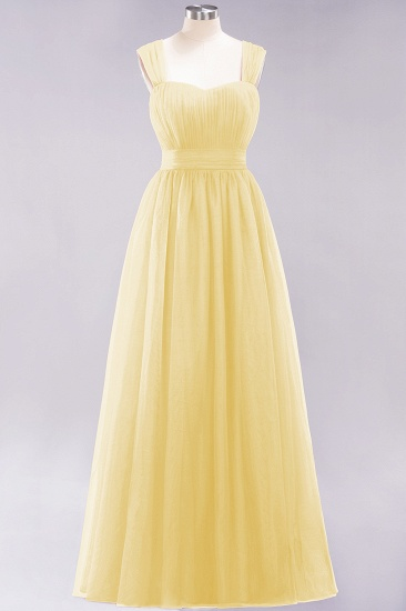BMbridal Gorgeous Sweetheart Straps Ruffle Burgundy Bridesmaid Dresses Online_17