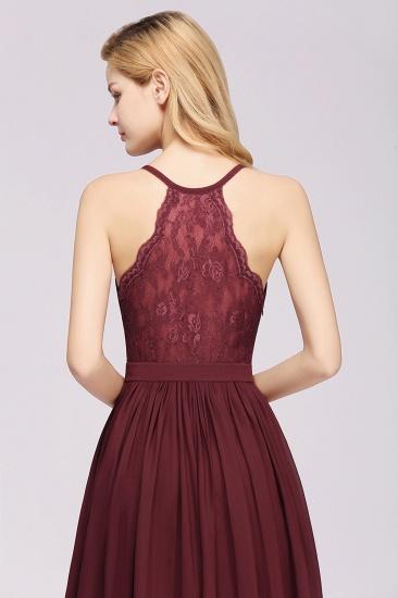 Affordable Chiffon V-Neck Sleeveless Lace Bridesmaid Dress Online_62
