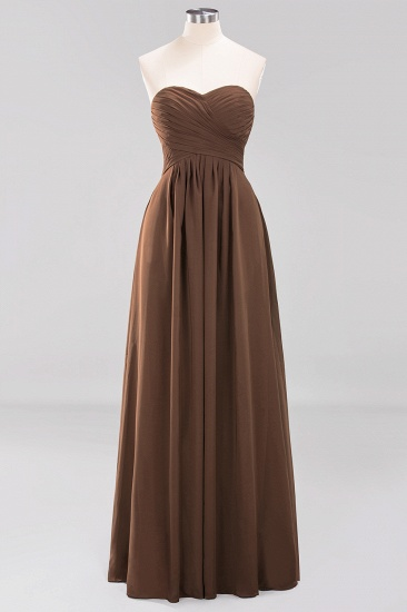Vintage Sweetheart Long Grape Affordable Bridesmaid Dresses Online_12