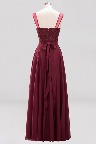 BMbridal Gorgeous Lace Jewel Affordable Pink Bridesmaid Dress with Beadings_5