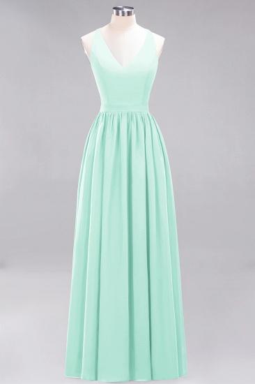 Affordable Chiffon V-Neck Sleeveless Lace Bridesmaid Dress Online_36