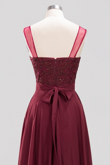 BMbridal Gorgeous Lace Jewel Affordable Pink Bridesmaid Dress with Beadings_7