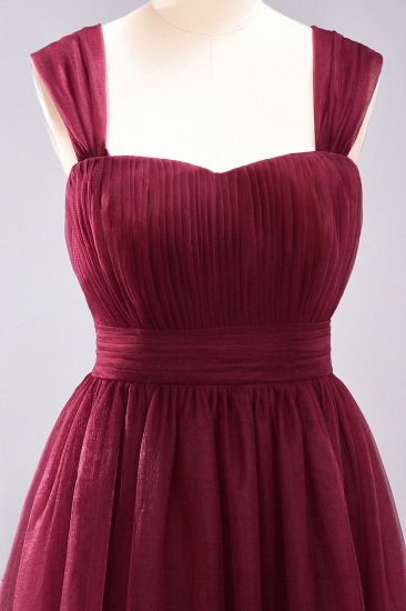 Gorgeous Sweetheart Straps Ruffle Burgundy Bridesmaid Dresses Online_40