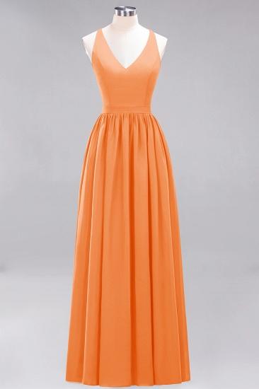 Affordable Chiffon V-Neck Sleeveless Lace Bridesmaid Dress Online_15