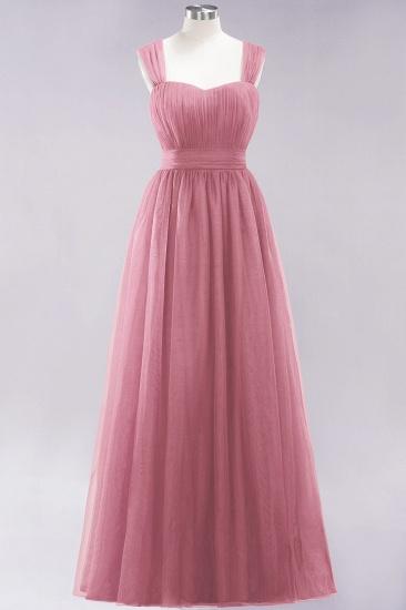 BMbridal Gorgeous Sweetheart Straps Ruffle Burgundy Bridesmaid Dresses Online_6