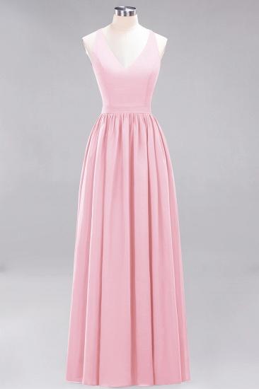 Affordable Chiffon V-Neck Sleeveless Lace Bridesmaid Dress Online_4