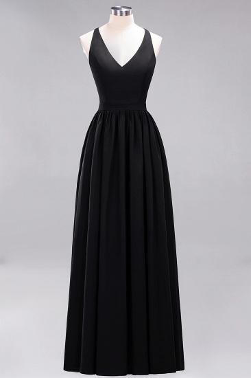 Affordable Chiffon V-Neck Sleeveless Lace Bridesmaid Dress Online_29