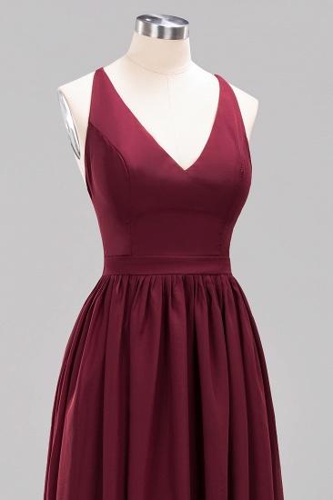 Affordable Chiffon V-Neck Sleeveless Lace Bridesmaid Dress Online_64