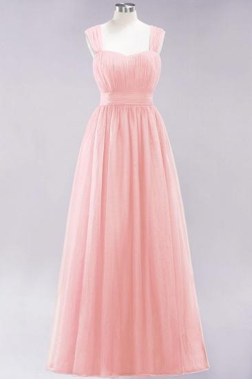 BMbridal Gorgeous Sweetheart Straps Ruffle Burgundy Bridesmaid Dresses Online_5