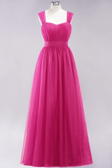 Gorgeous Sweetheart Straps Ruffle Burgundy Bridesmaid Dresses Online_9