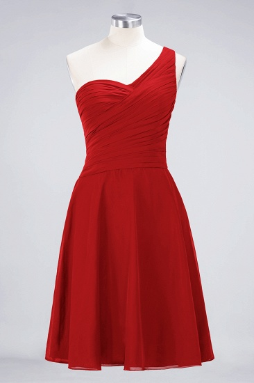 BMbridal Chic One-Shoulder Short Burgundy Affordable Bridesmaid Dress with Ruffle_8