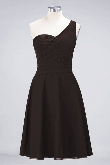 BMbridal Chic One-Shoulder Short Burgundy Affordable Bridesmaid Dress with Ruffle_11