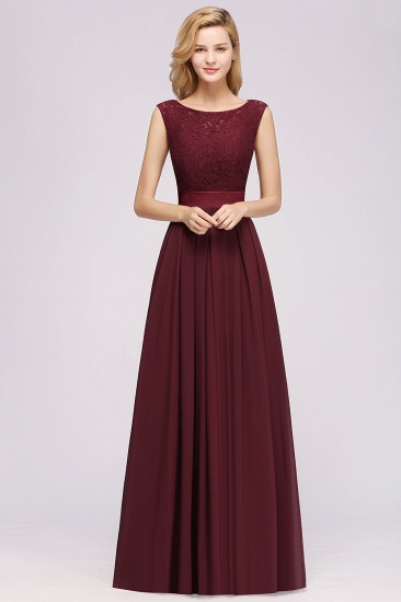 Vintage Sleeveless Lace Bridesmaid Dresses Affordable Chiffon Wedding Party Dress Online_4