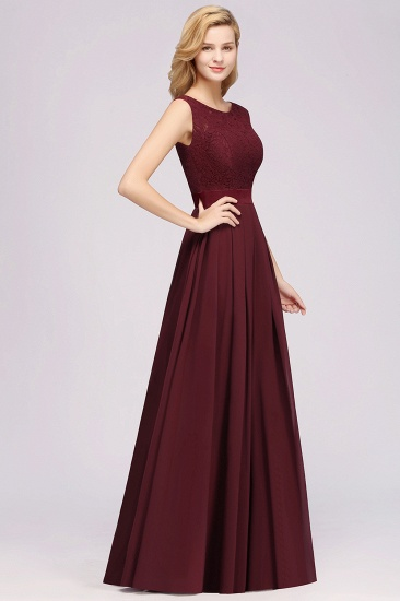Vintage Sleeveless Lace Bridesmaid Dresses Affordable Chiffon Wedding Party Dress Online_60