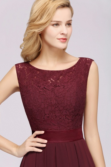 Vintage Sleeveless Lace Bridesmaid Dresses Affordable Chiffon Wedding Party Dress Online_62