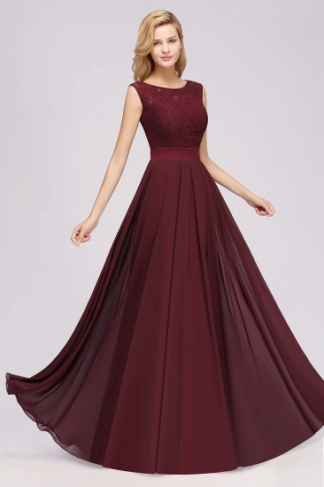 Vintage Sleeveless Lace Bridesmaid Dresses Affordable Chiffon Wedding Party Dress Online_61